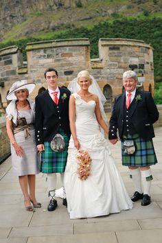 The happy couple with their parents. . .we love this dress #Dynamicearth #Weddingvenue #Edinburgh #Bride #Groom #Fatherofthebride #Motherofthebride #Arthurseat