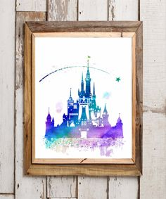 Hey, I found this really awesome Etsy listing at https://www.etsy.com/listing/268245030/cinderella-castle-watercolor-print
