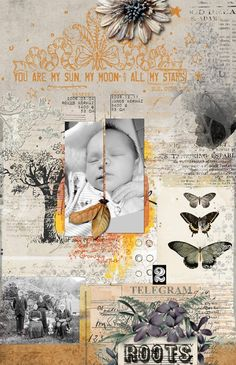 You Are... by beszteri at the Lilypad | created using Mixed Media Monthly main kit and add ons by Dawn Inskip, Little Butterfly Wings, Lynne-Marie and Paula Kesselring