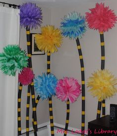 lifesize truffula trees! loooove Dr Seuss and WANT THESE in my classroom for a Seuss unit!