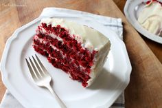 The Red Feedsack: For the Love of Red Velvet {cake that is!} - with old fashioned boiled milk frosting