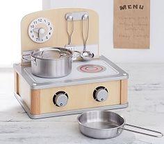 "clock on kitchen ""wall"" - Kids' Kitchen Sets & Kitchen Playsets | Pottery Barn Kids"