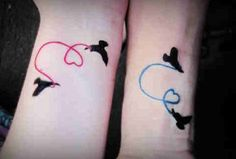 Inspiring Sisters Tattoo Designs for You Cousin Tattoos, Sister Tattoo Designs, Matching Sister Tattoos, Couples Tattoo Designs, Unique Tattoo Designs, Bff Tattoos, Tattoos For Daughters, Trendy Tattoos, Love Tattoos