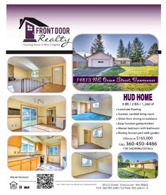 Real Estate For Sale: $165,000-3 Bedroom, 2 Bath, 1260 SF Sweet One Level Bush Gardens HUD Home on .18 Acre Fenced Lot in Vancouver, WA! Thanks for sharing Julie Baldino, Front Door Realty, Vancouver, WA!   #RealEstate #ForSaleRealEstate #RealEstateForSale #VancouverRealEstate #RealEstateVancouver #Vancouver #BushGardensRealEstate #RealEstateBushGardens #BushGardens #OneLevelRealEstate #RealEstateOneLevel #OneLevel #HUDHome #LargeLotRealEstate #RealEstateLargeLot #LargeLot #FencedLot