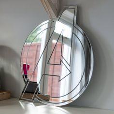 Avengers Mirror, Girls Bedroom, Boys Bedroom, Gaming Room, Wall Sign, Shatterproof Mirror