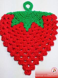 Set of 2 - Watermelon Crochet Pot Holders, Hot Pads, Summer Potholder Patterns, Crochet Potholders, Knitting Patterns, Crochet Patterns, Crochet Kitchen, Crochet Home, Love Crochet, Knit Crochet, Crochet Motifs