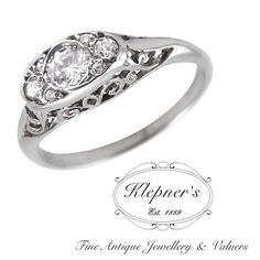 CUSTOM ART DECO INSPIRED ENGAGEMENT RING. This Art Deco inspired ring can be customized to include any combination of diamonds and/or gemstones such as sapphires, rubies, emeralds, birthstones, anniversary stones, etc & can be crafted in 9ct or 18ct white, rose or yellow gold, platinum or sterling silver.  Prices vary depending on your unique specifications, please don't hesitate to contact us for a quote tailored for you. Visit us at www.klepners.com.au
