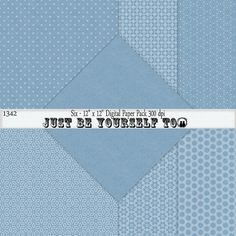 Instant Download 12 x 12 Inch Blue Tone on Tone Collection 3 by JustBYourself2 (1342)