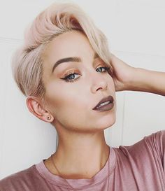 30 Super Short Hairstyles for 2017: #7- Short Pink Hairstyle