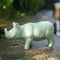 yet another.  Ok, I must have a white ceramic rhino.  I give.
