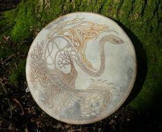 Hand painted shamanic drum