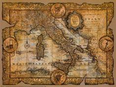 Oude kaart in de stijl die we gaan gebruiken voor onze titelsequence. Gemaakt door: John Douglas