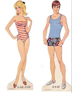Barbie and Ken paperdolls !!!!