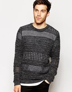 ASOS Jumper with Brushed Texture. This is my top pick of the day! This is so multi-functional. Wear with a plain black or white tee underneath and dark jeans, or with smarter trousers over a white Oxford shirt. http://asos.to/1sfmNq1