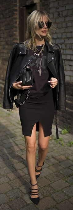 Lisa R V D Everything Black Business Stylish Outfit Idea
