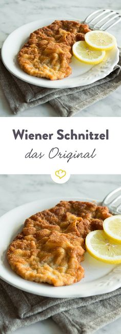 Original Wiener Schnitzel – so wird es saftig und knusprig The classic Wiener schnitzel spoils you with juicy veal wrapped in a crunchy breading. This makes it especially tender and crispy. Austrian Recipes, Italian Recipes, Original Wiener Schnitzel, Sarah Wiener, Cooking Time, Cooking Recipes, My Favorite Food, Favorite Recipes, Good Food