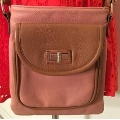"Spotted while shopping on Poshmark: ""Rose and Tan Satchel""! #poshmark #fashion #shopping #style #Handbags"