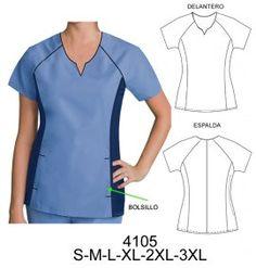 Delantales Scrubs Outfit, Scrubs Uniform, Kwik Sew Patterns, Dress Patterns, Scrubs Pattern, Corporate Uniforms, Nurse Costume, Medical Uniforms, Uniform Design