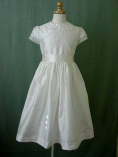 Silk First Communion Dress - using my old wedding dress for fabric I hope!