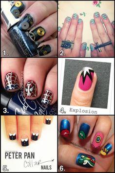 Girls, you know you wanna get some #PhoenixBlack on yo tips. Geek #Crafts : Nerdy Nail Art