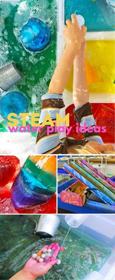 10 Irresistible STEAM Water Activities for Kids - Babble Dabble Do Water Activities Kids, Creative Activities For Kids, Craft Projects For Kids, Science Experiments Kids, Sensory Activities, Kindergarten Activities, Summer Activities, Preschool Activities, Science Crafts