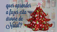 Patricia Cardoso  - Como fazer uma árvore de Natal de tecido - molde grátis