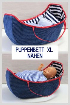 Sewing an XL doll bed: A doll bed for large dolls is an enchanting gift! … Sewing an XL doll bed: A doll bed for large dolls is an enchanting gift! Beginner Knitting Projects, Sewing Projects For Beginners, Knitting For Beginners, Sewing Tutorials, Sewing Hacks, Waterproof Picnic Blanket, Layer Cake Quilts, Sewing Patterns Free, Pattern Sewing