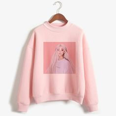 Ariana grande sweatshirt no tears left to cry hoodie women cartoon print harajuku god is a woman sweatshirts pullover warm tops Sweat Shirt, Pink Fashion, Fashion Outfits, Fashion Clothes, Harajuku, Sweater Hoodie, Pullover, Ariana Grande Outfits, Style Vintage
