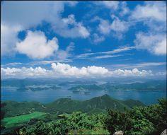 한려해상 - 미륵산에서 바라본 한려수도 (Hallyeohaesang National Park, Korea)