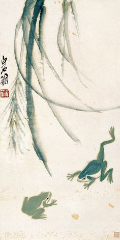 Qi Baishi (齊白石, was an influential Chinese painter, noted for the whimsical, often playful style of his watercolor works; born to a peasant family from ...
