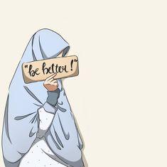 Cute Girl Wallpaper, Cute Wallpaper Backgrounds, Cartoon Wallpaper, Girl Cartoon, Cute Cartoon, Cartoon Art, Muslim Pictures, Islamic Pictures, Cartoon Drawings