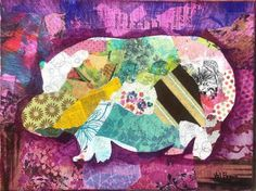 purple hippo This group of animal friends are; the hippo - happy is the Finished edged canvas, mixed media- each sold separately Thai Elephant, Paper Tags, Zebras, Giraffe, Mixed Media, Give It To Me, Joy, Group, Canvas