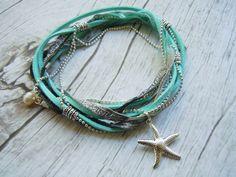 Beach Bride Starfish Cavigliera Braccialetto di BohemienneBelle
