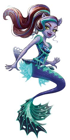 Artwork/PNG en HD de Clawdeen Wolf - Great Scarrier Reef - Glowsome Ghoulfish