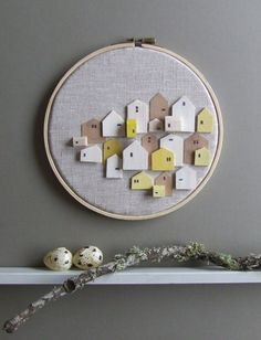 Hey, I found this really awesome Etsy listing at https://www.etsy.com/listing/168563420/serendipity-tiny-wooden-houses-on-linen