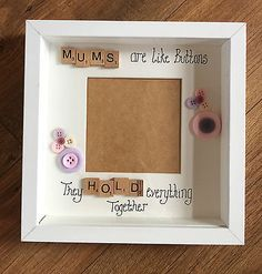 Handmade mums are like buttons #white box #frame scrabble letters #mothers day gi,  View more on the LINK: http://www.zeppy.io/product/gb/2/222039348467/
