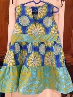 Sweet summer dress for little girls by Iminstitches2 on Etsy, $28.99
