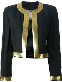 0c5d3141d990 Moschino Vintage Cropped Bolero Jacket Mode Femme, Vestes, Blazer, Blazer  Recadrée, Veste