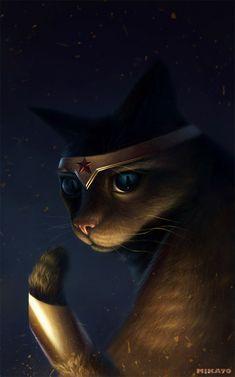 Foto: Ilustraciones de gatos parodiando superhéroes por Naionmikato de Israel   ilustraciones galerias imagenes creatividad