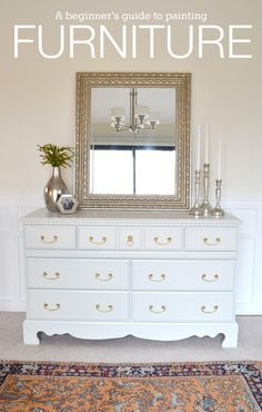 A guide to painting furniture. This tutorial makes it so easy!