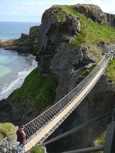 Carrick-a-Rede by gabriellea famous rope bridge near Ballintoy in County Antrim, Northern Ireland. The bridge links the mainland to the tiny island of Carrickarede