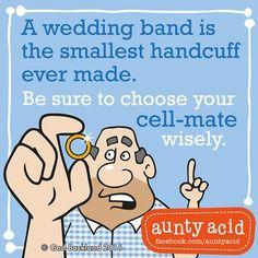 #AuntyAcid a wedding band