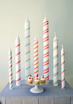 DIY giant birthday candles