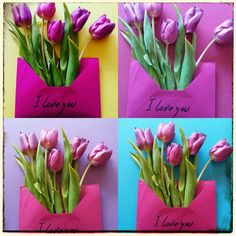 Flower speaking | I love you #tulip #colour #love #letters