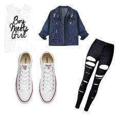 """Like it please ? 😉"" by alyssagrimaldocollins1984 ❤ liked on Polyvore featuring WithChic and Converse"