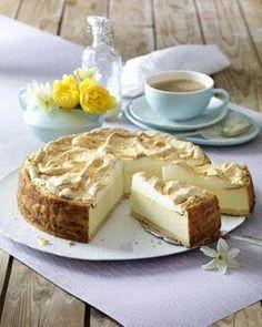 Goldtröpfchen-Torte (Käsekuchen mit Baiserhaube) Rezept - Chefkoch-Rezepte auf…