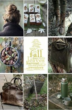 Autumn in green and brown. Flora Und Fauna, Autumn Cozy, Autumn Fall, Fall Harvest, Autumn Aesthetic, Cozy Aesthetic, Jolie Photo, Hello Autumn, Collages