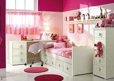 habitación para niñas Pink Room, Little Girl Rooms, Baby Room Decor, Girls Bedroom, Bedroom Ideas, Room Interior, Home Furniture, Interior Decorating, Decorating Ideas