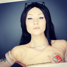 THE #alexvause from #orangeisthenewblack #tutorial is NOW UP on #youtube.com/madeyewlook! Clothing, tattoo, etc are all painted on ^.^