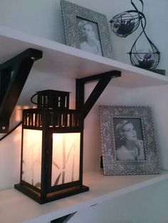 IKEA lantern with plastic window foil and a light bulb instead of a candle